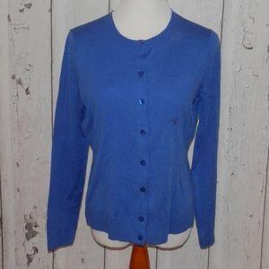 NEW NY&Co Large Blue Soft Cardigan Sweater Shirt